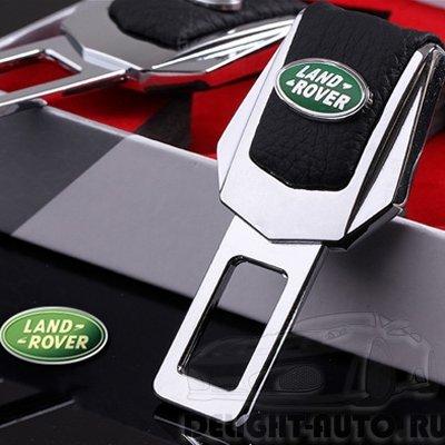 Заглушка ремня безопасности /натуральная кожа/ с логотипом авто  (2 шт./компл.)