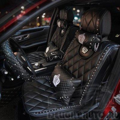 Автомобильные чехлы на сидения D.A.D CROWN (КОРОНА) c декоративными клепками-II
